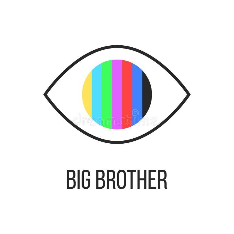 Le frère vous observe de la TV illustration stock