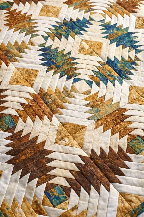 Le fragment de l'édredon a piqué des blocs de modèle d'ananas image libre de droits