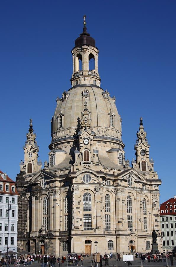Le Frauenkirche à Dresde, Saxe photos stock