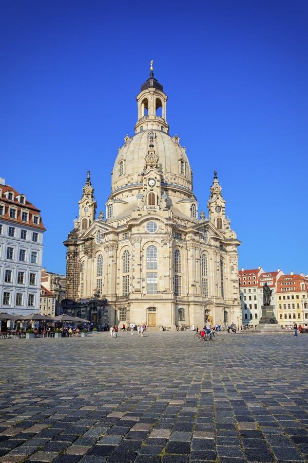 le Frauenkirche célèbre à Dresde Allemagne images libres de droits