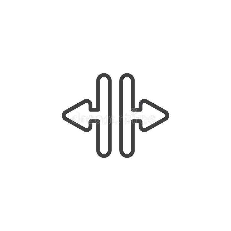 Le frecce aperte della porta dell'elevatore allineano l'icona illustrazione vettoriale