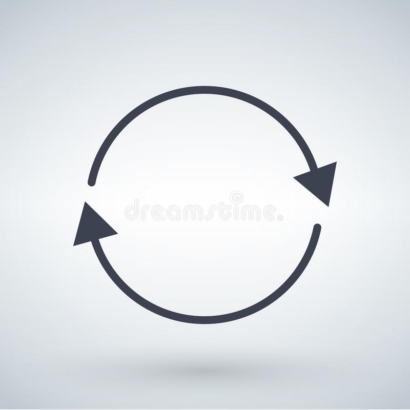 le frecce nere del cerchio, rinfrescano o aggiornano il concetto della freccia Ill di vettore illustrazione vettoriale