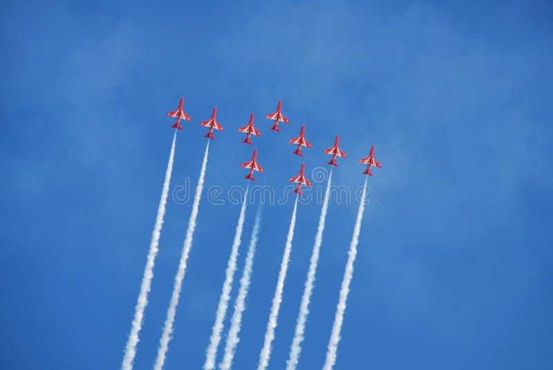Le frecce rosse, Eastbourne immagine stock libera da diritti