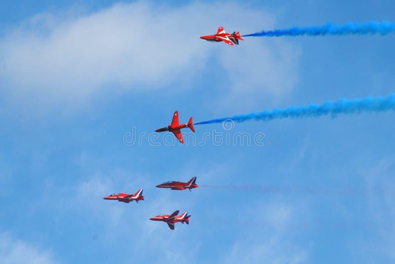 Le frecce rosse, Eastbourne fotografia stock