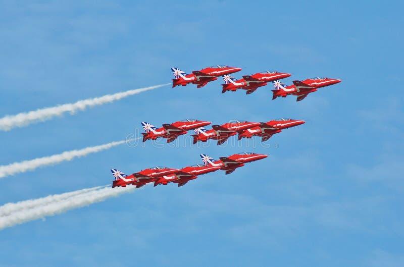 Le frecce rosse, Eastbourne immagine stock