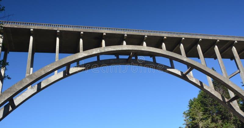 Le Frederick W Pont de Panhorst, généralement connu sous le nom de pont russe de Gulch dans le comté de Mendocino, la Californie  image libre de droits