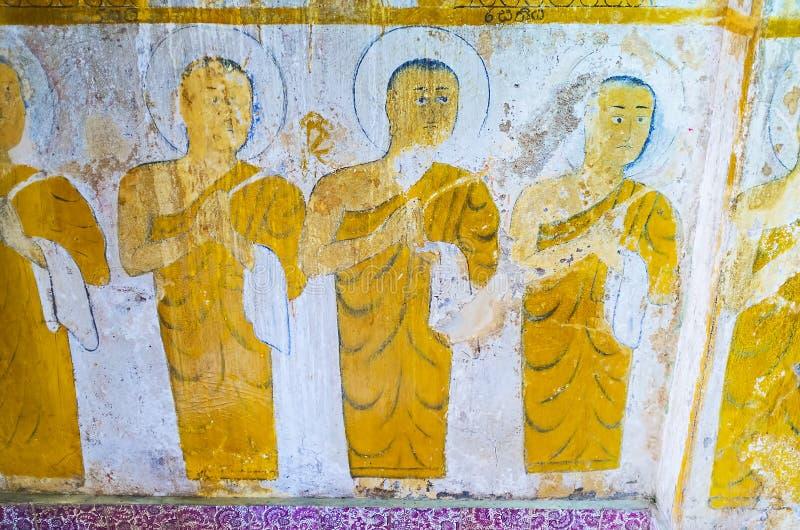 Le fresque antique image stock