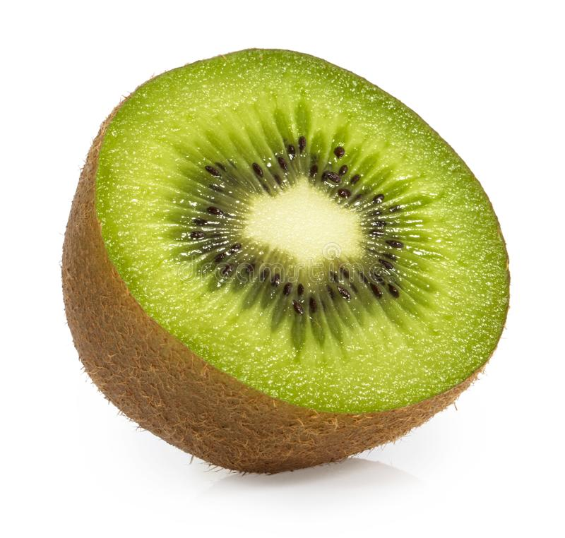 le fruit de fond a isolé le blanc de kiwi photo libre de droits