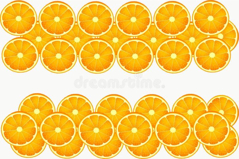 Le fruit orange blanc mangent le cercle image stock