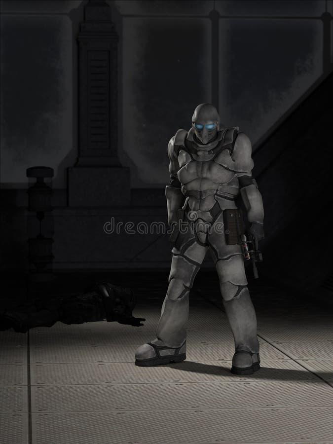 Le futur espace Marine Assassin illustration de vecteur