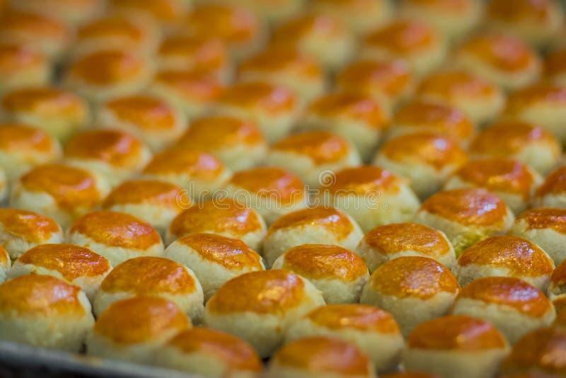 Le gâteau chinois de lune de pâtisserie image libre de droits