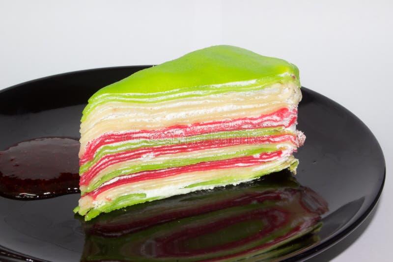 Le gâteau coloré images stock
