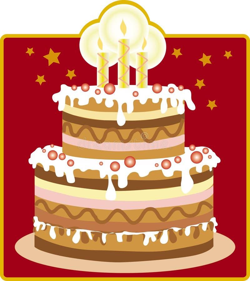 Le gâteau d'anniversaire illustration stock