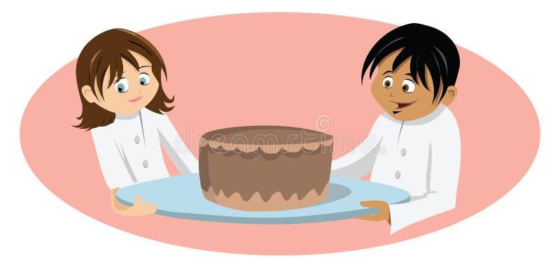 Le gâteau du chef illustration de vecteur