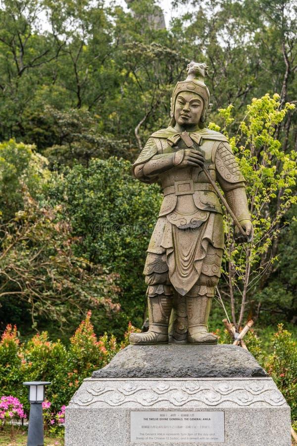 Le Général Anila des douze généraux divins, Hong Kong China image stock