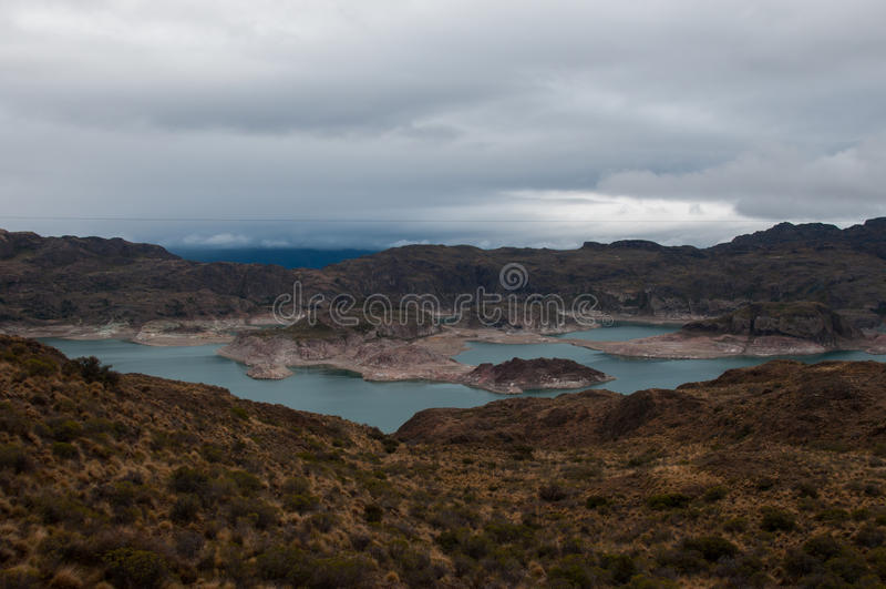 Le Général Carrera, Carretera austral, route 7, Chili de Lago photos stock