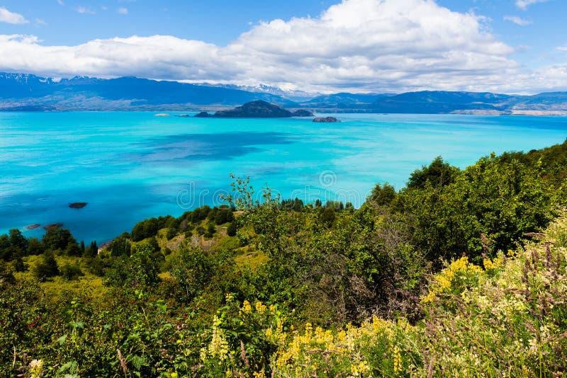 Le Général Carrera, Patagonia (Chili) de lac photo libre de droits