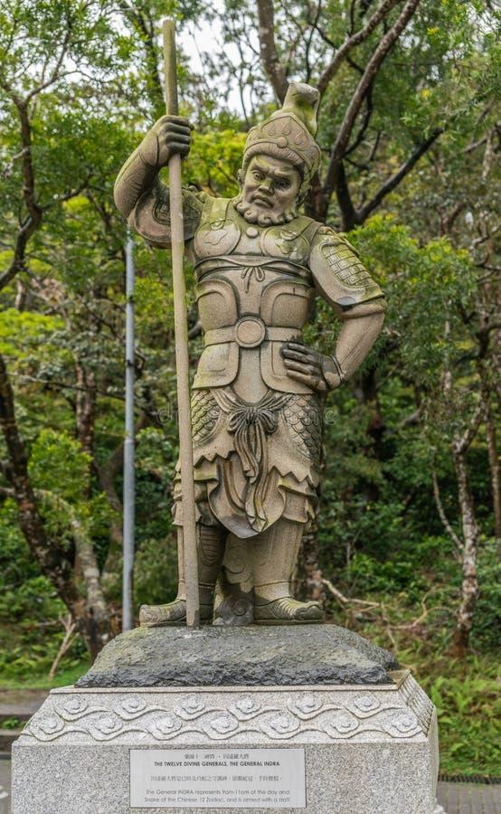 Le Général Indra des douze généraux divins, Hong Kong China image stock