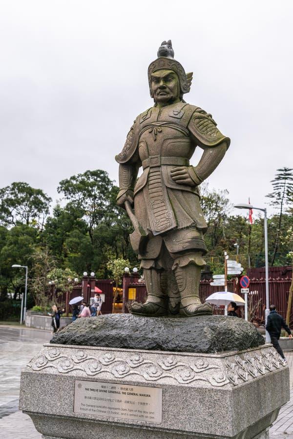 Le Général Makura des douze généraux divins, Hong Kong China image stock