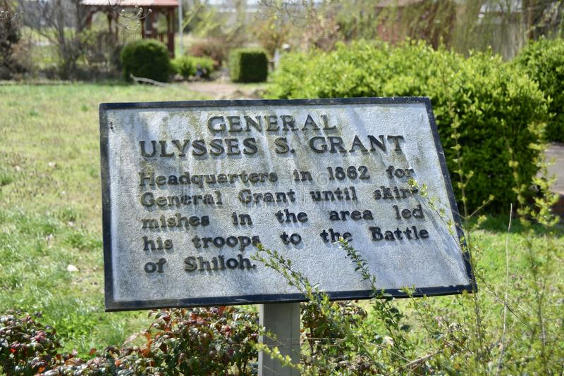 Le Général Ulysse S Grant Marker, Jackson, Tennessee photos stock