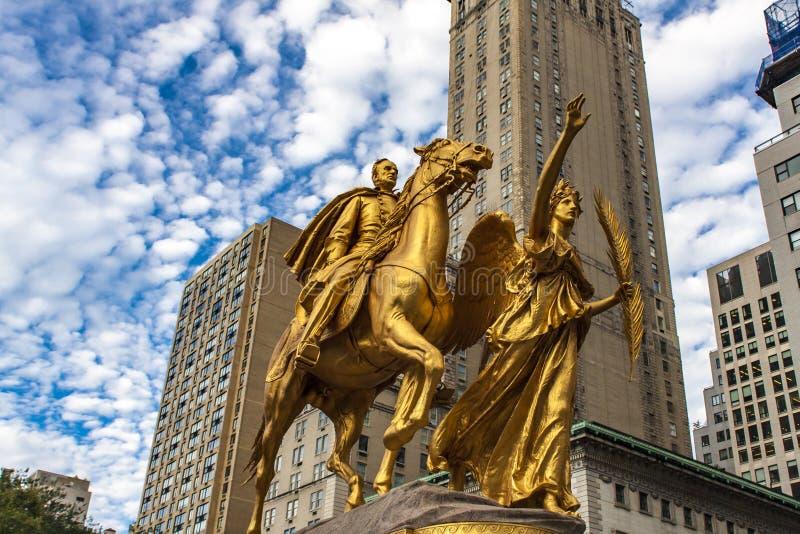 Download Le Général William Tecumseh Sherman Monument à New York Photo stock - Image du gratitude, armée: 76088956