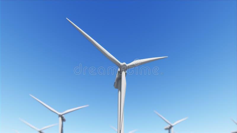 Le générateur de vent sur le ciel clair 3D rendent illustration libre de droits