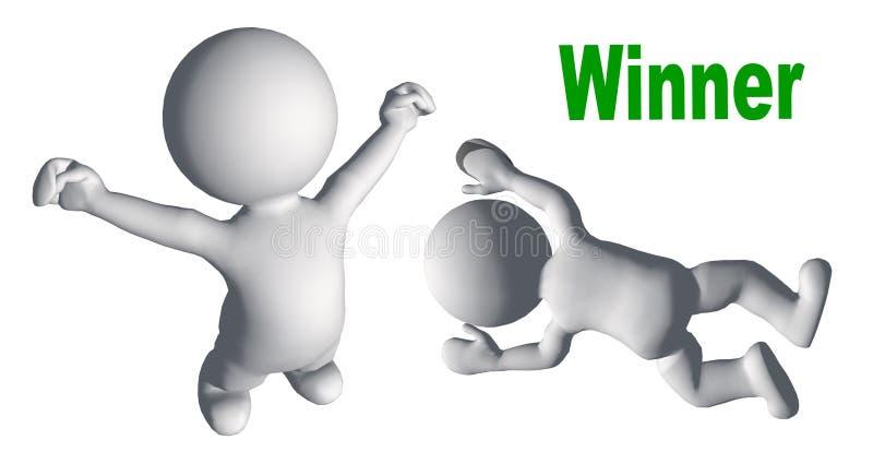 Le gagnant et le perdant illustration de vecteur