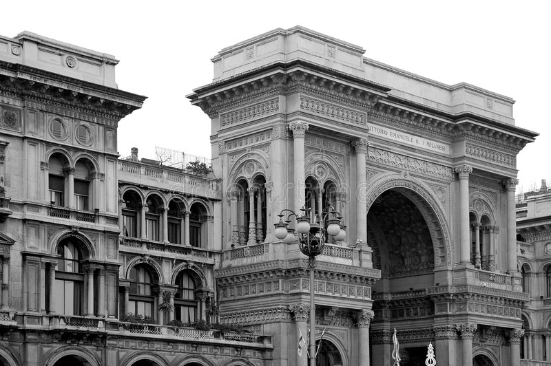 Le Galleria Vittorio Emanuele II image stock