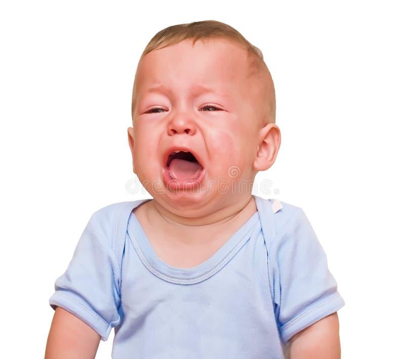 Le garçon pleurant image libre de droits