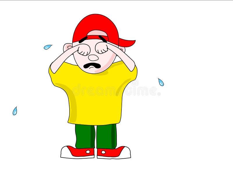 Le garçon pleurant photo stock