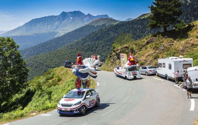 Cochonou Vehicle In Alps - Tour De France 2015 Editorial