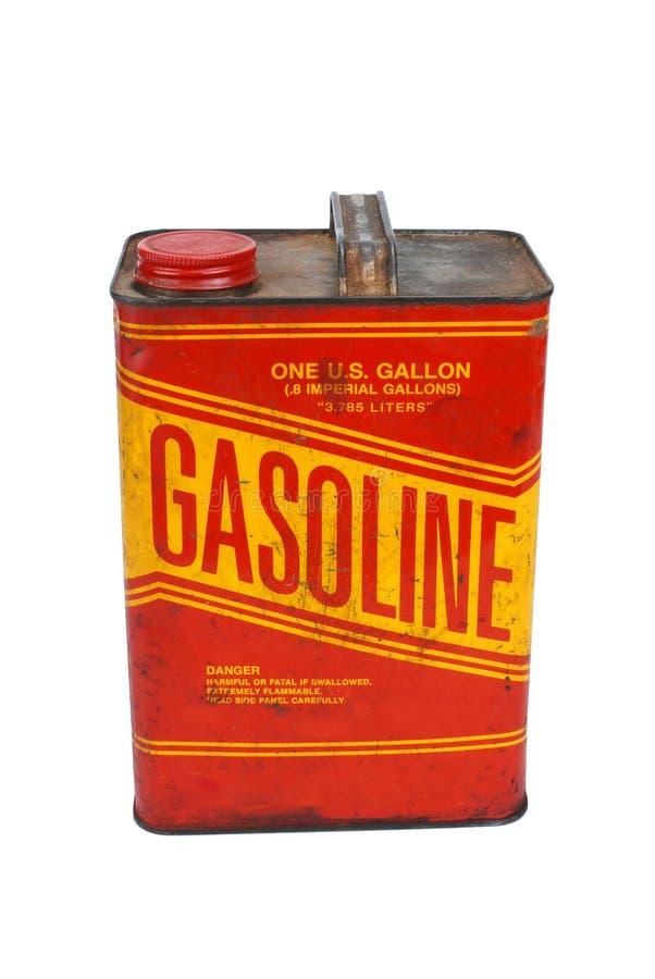 le gaz de 1 gallon peut photographie stock