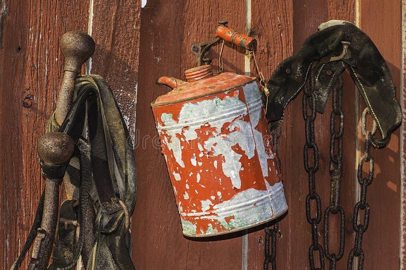 Le gaz de vintage peut photographie stock libre de droits