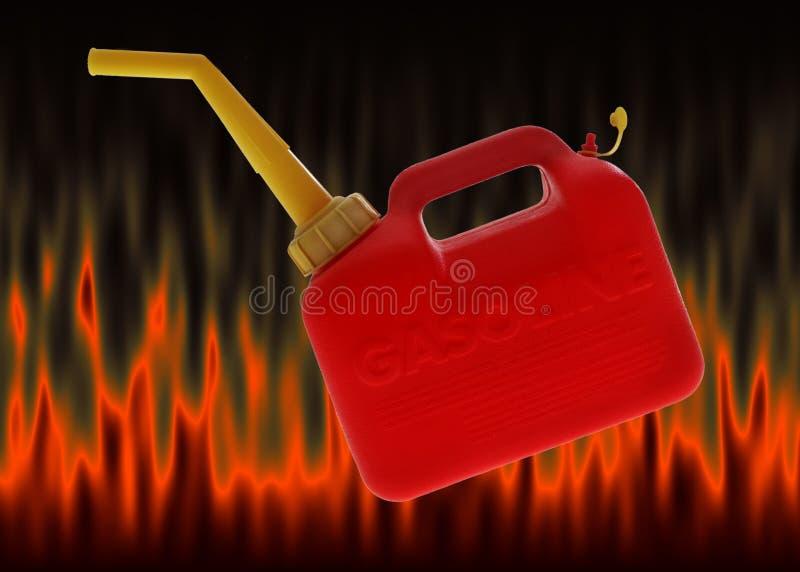 Le gaz peut illustration libre de droits