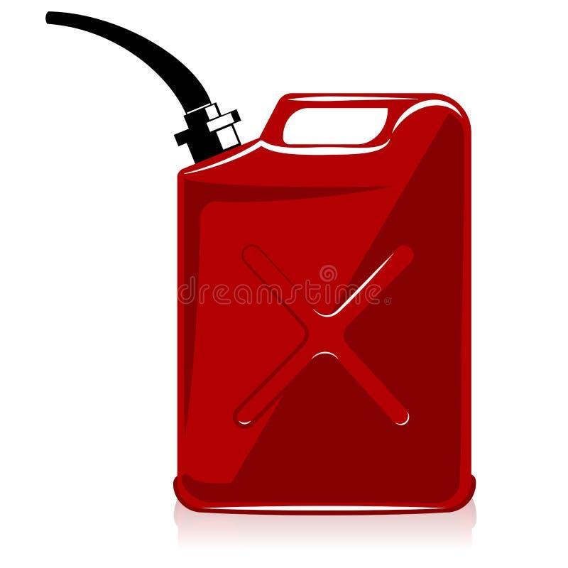 Le gaz peut illustration stock