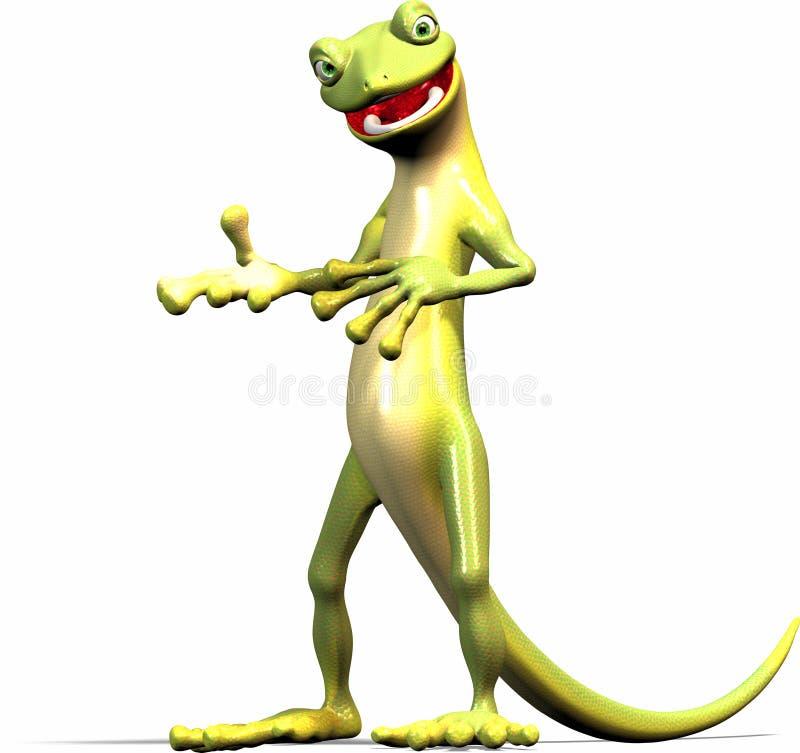 Le Gecko explique illustration stock