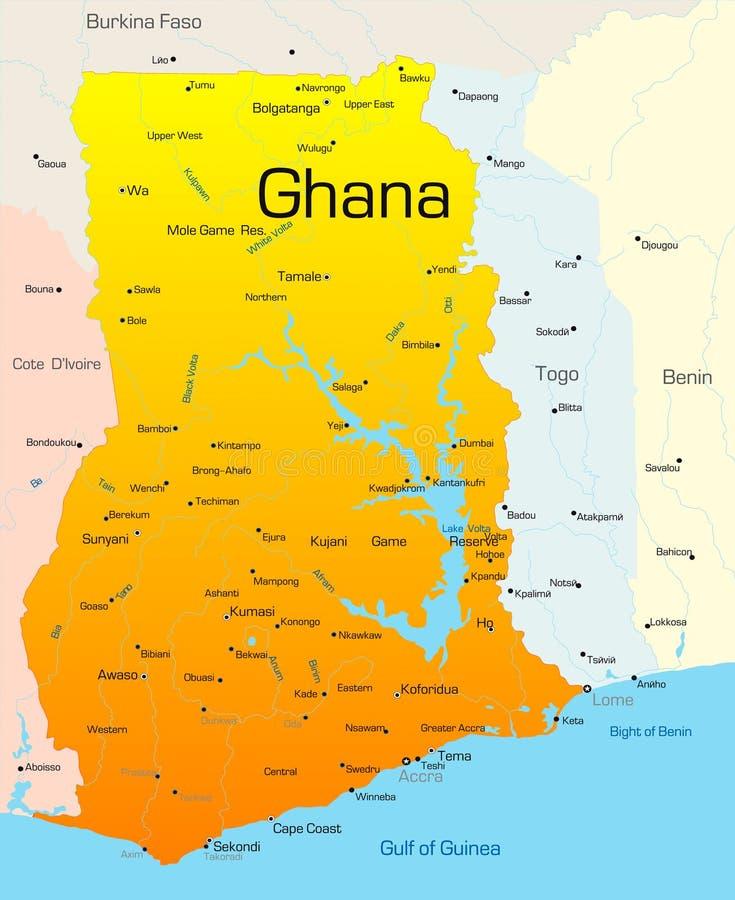 Le Ghana illustration libre de droits