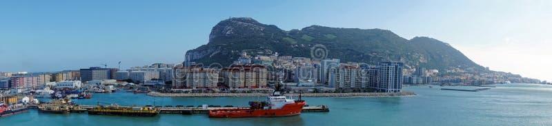 Le Gibraltar de la mer photo stock