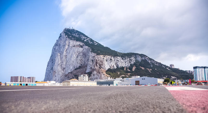 Le Gibraltar, la roche photographie stock
