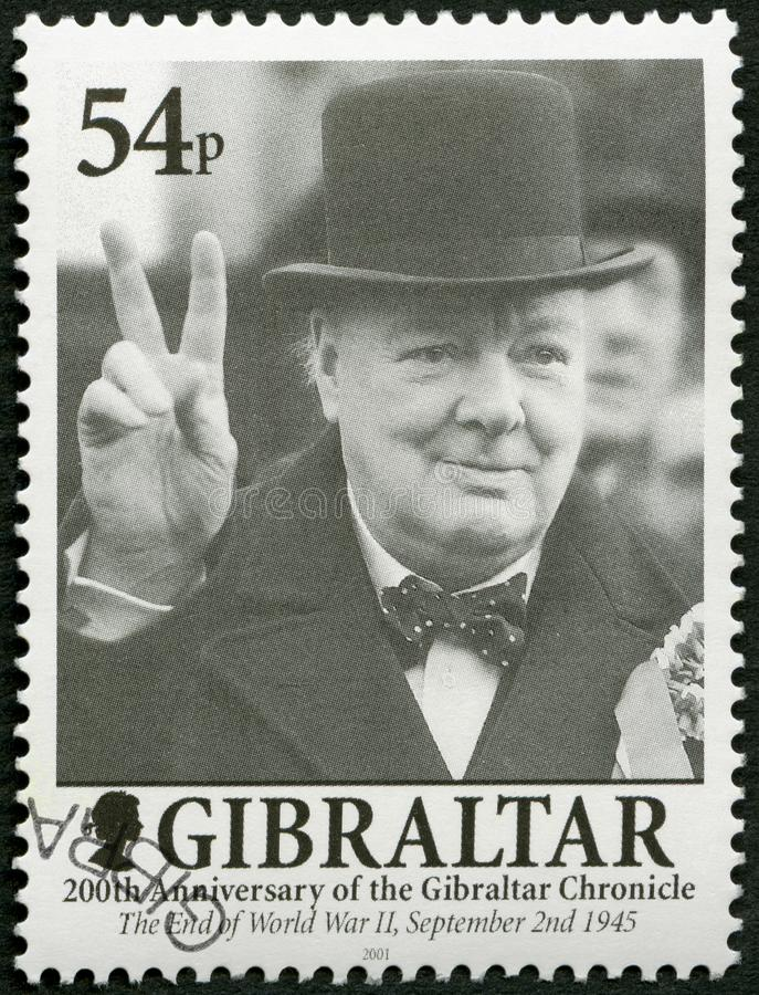 Le GIBRALTAR - 2001 : les expositions Sir Winston Spencer Churchill 1874-1965, politicien, 200 ans du Gibraltar font la chronique photos libres de droits