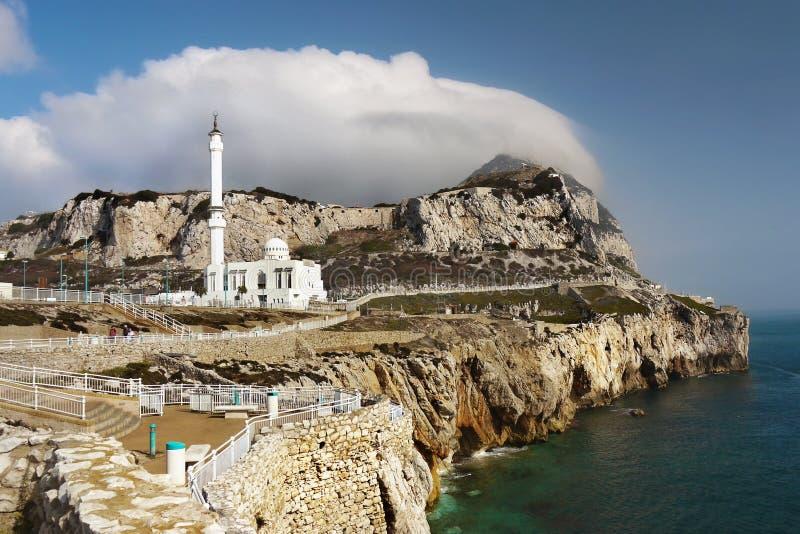 Le Gibraltar, point d'Europa, mosquée photos stock