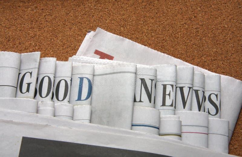 Bonnes nouvelles sur des journaux images stock