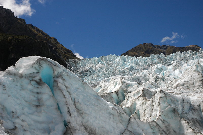 Le glacier de Fox photo libre de droits