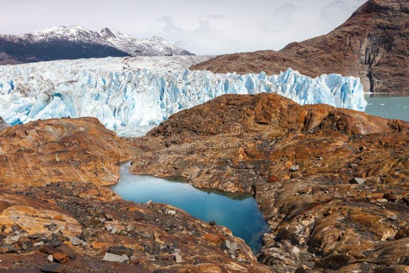 Le glacier de Viedma, Patagonia, Argentine photos libres de droits