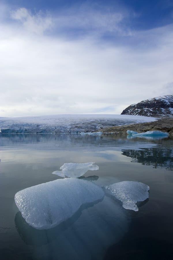 le glacier jostedalsbreen la Norvège images libres de droits