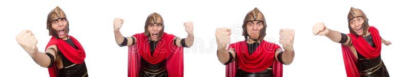 Le gladiateur d'isolement sur le blanc images stock