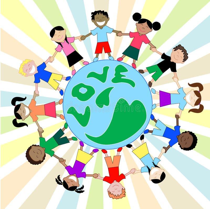 le globe badine l'amour illustration libre de droits
