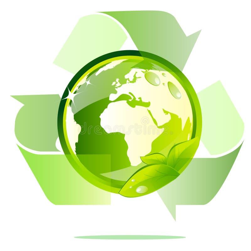 Le globe d'Eco réutilisent illustration de vecteur