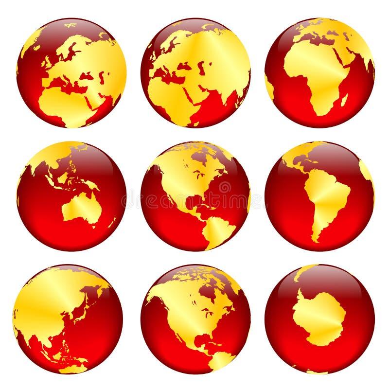 Le globe d'or visualise #2 illustration libre de droits