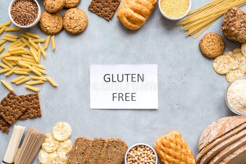 Le gluten libèrent la nourriture photographie stock libre de droits